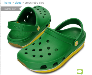 Le Crocs retro che mi ha reglato mia sorella
