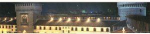 il Castello Sforzesco nel suo fascino notturno