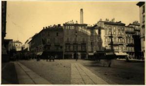 La ciminiera della centrale di S. Redegonda vista dal retro del Duomo