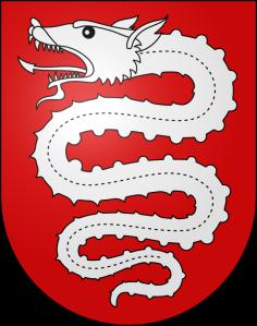 Un altro biscione su uno scudo: lo stemma di Bellinzona (CH)