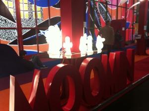 Lampade che rappresentano i Moomin