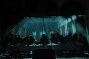 Elaborazioni luminose sulla cena di Leonardo, così come li ha ideati Peter Greenway