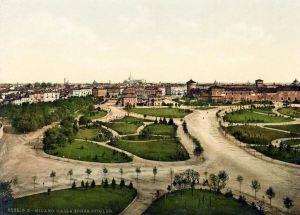 Ecco come si presentava l'area del Parco Sempione, appena risistemata alla fine del XIX sec.
