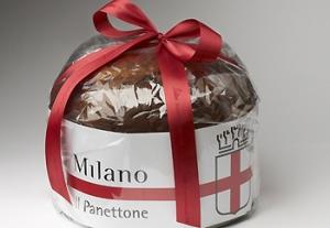 panettone brandizzato con stemma di Milano