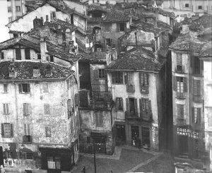 Una vecchia foto immortala il fitto tessuto abitativo del Bottonuto