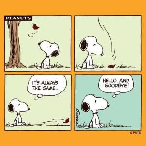 L'autunno visto da Snoopy
