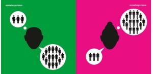 """Due immagini sul vecchio stereotipo delle relazioni maschi VS femmine (dal libro Man meets Woman"""""""