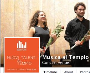 L'Associazione Musica al Tempio (Valdese), che offre un'ottima stagione musicale interpretata da giovani talenti