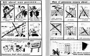 Una famosa striscia prodotta dalla propaganda antisemita in Italia