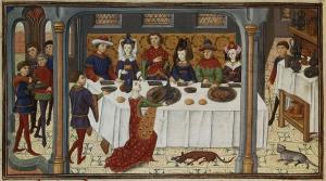 Un banchetto medievale, forse non all'altezza di quello di cui vi racconto... (photo: La Storia Viva)