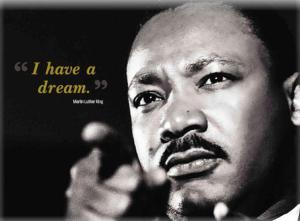 Martin Luther King e la sua celebre frase.