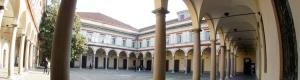 Uno dei chiostri monastici che ospita oggi il Conservatorio musicale di Milano