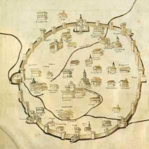 Le mura medievali di Milano. Disegno di Pietro del Massajo Bibl. Apostolica Vaticana, 1472