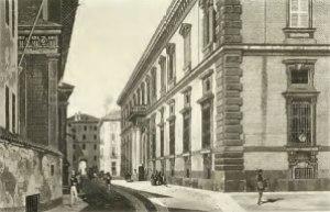 Il palazzo di Brera in una vecchia stampa